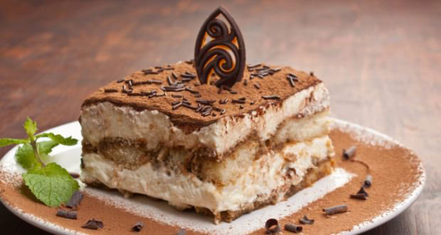 closeup of tiramisu